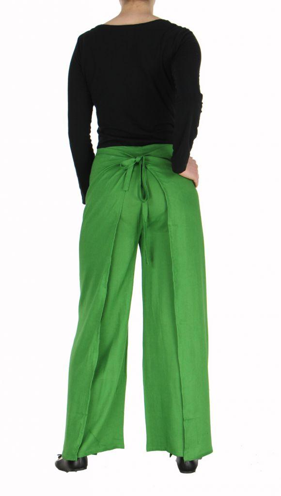 Pantalon thai portefeuille vert 268958