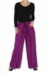 Pantalon thai portefeuille violet 268964