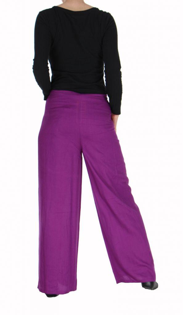 Pantalon thai portefeuille violet 268965