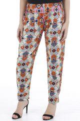 Pantalon très féminin imprimé ethnique et confortable Paulo 310392
