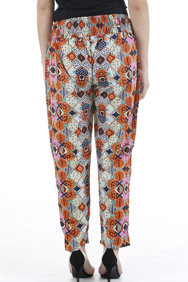 Pantalon très féminin imprimé ethnique et confortable Paulo 310393
