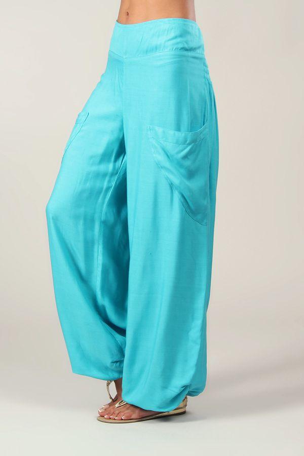 Pour Agreable Fluide Femme Pantalon Turquoise Et Cedric q1fnB