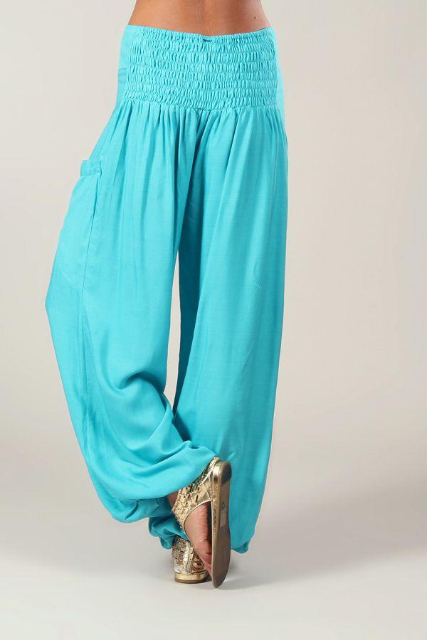Pantalon turquoise pour femme fluide et agréable Cédric 282916