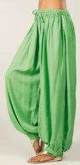 Pantalon Vert pour femme bouffant Ethnique et Original Gilian 282307