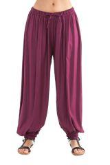 Pantalon Violet pour femme bouffant Ethnique et Original Gilian 282242