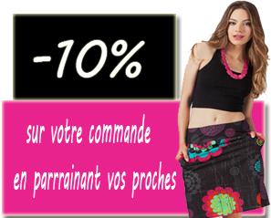 parrainage akoustik -10% vêtement ethnique-chic pas cher