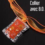 Parure collier et boucles d\'oreilles sideral orange 244710