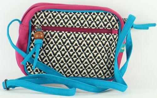 Petit sac Macha à bandoulière Ethnique et Coloré Karisa Fuschia 277233
