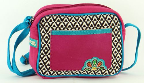 Petit sac Macha coloré tons fushia à bandoulière Popy 271444