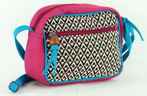 Petit sac Macha coloré tons fushia à bandoulière Popy 271445