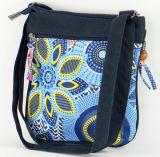 Pochette Bleue Originale pour Femme Coton et Cuir Macha Sardane 277703
