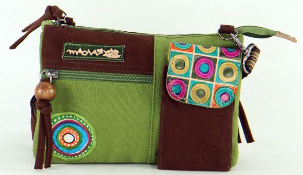 Pochette Originale et Colorée pour Femme en Coton Macha Sensa Kaki 277684