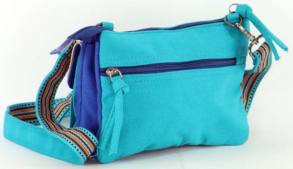 Pochette pour Femme en Coton Macha Originale et Colorée Sensa Bleue 277681