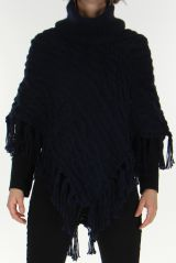 Poncho Original pour Femme style Tricot Glascow Marine 278247