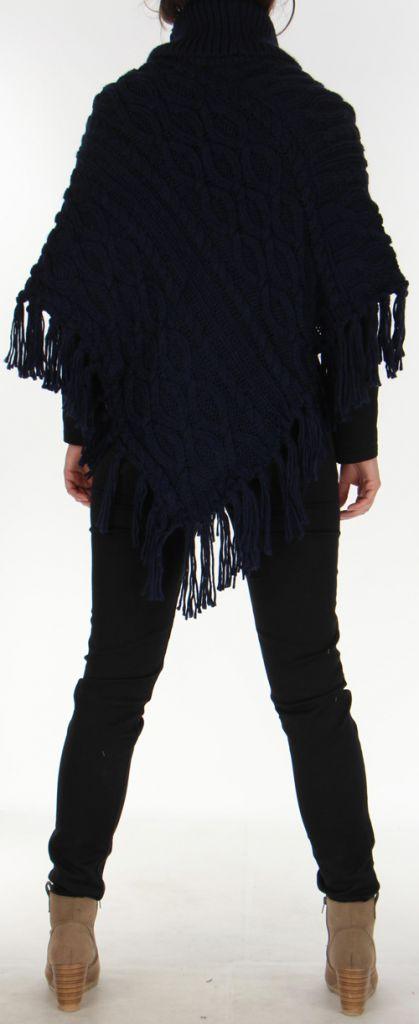 Poncho Original pour Femme style Tricot Glascow Marine 278249