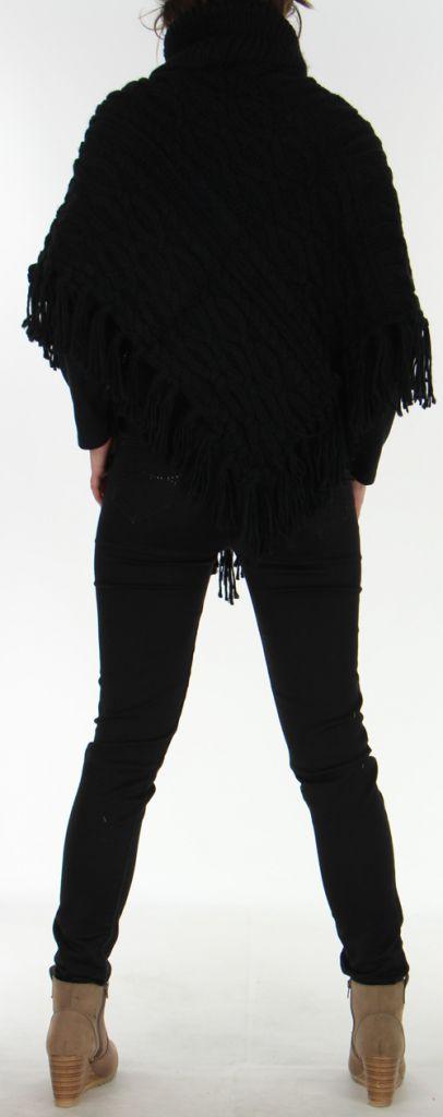 Poncho pour Femme style Tricot Original Glascow Noir 278243