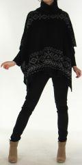 Poncho pour Femme Tendance aux motifs Aztèques Painal Noir 278257