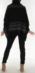 Poncho pour Femme Tendance aux motifs Aztèques Painal Noir 278258