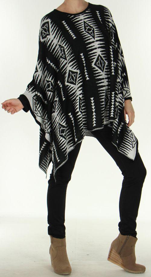 Poncho pour Femme très mode Ethnique et Amérindien Aponi 278269