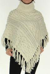 Poncho style Tricot pour Femme Original Glascow Ecru 278250