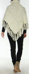 Poncho style Tricot pour Femme Original Glascow Ecru 278252
