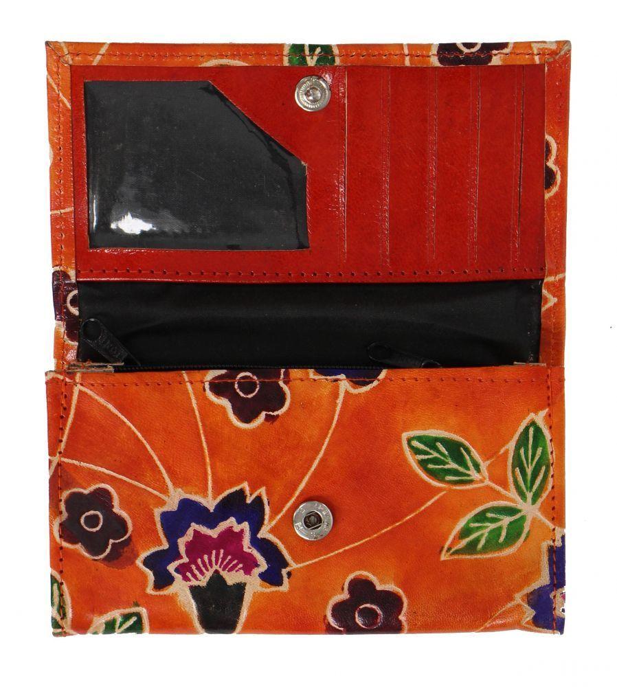 Porte feuille en cuir floxiko vert 255863