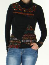 Pull en maille pour Femme Ethnique et Original Sully Noir 276339