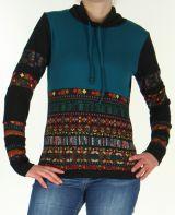 Pull pour Femme Ethnique et Tendance Tasmia Turquoise 278339
