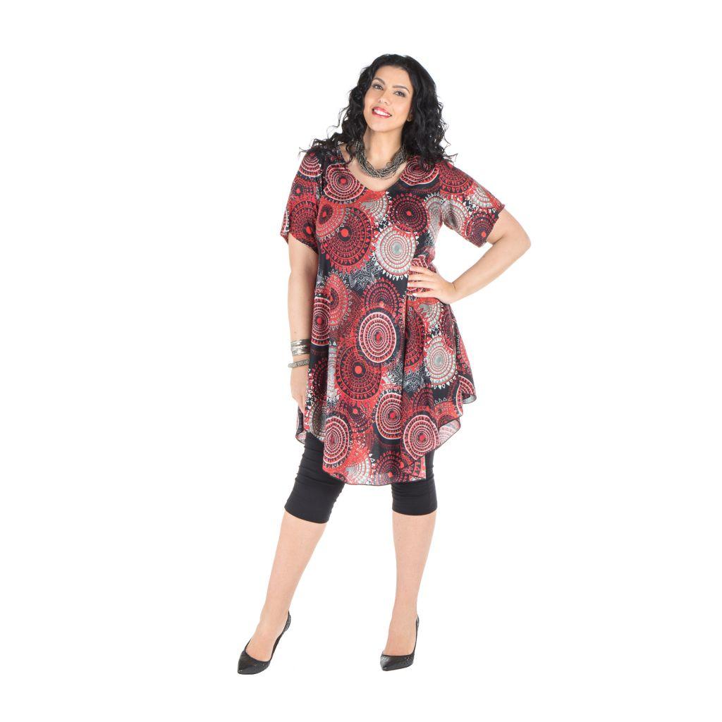 Robe  size plus look vintage avec ilmrpimés originaux Ezra 296382