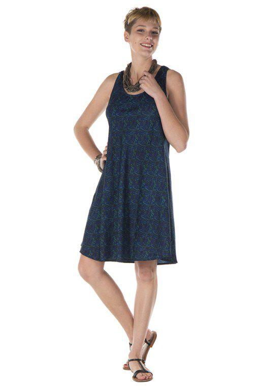 Robe à bretelles larges bleue marine Addyson 288189