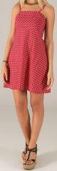 Robe à bretelles réglables Colorée et Fantaisie Vika Rouge 279417