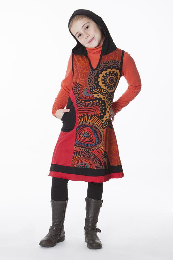 Robe à capuche originale et colorée pour enfant 287146