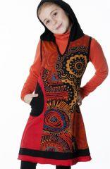 Robe à capuche originale et colorée pour enfant 287147