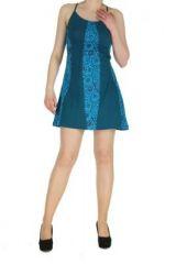 Robe à dos-nu bleue Noamia 268348