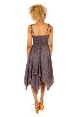 Robe à dos nu convertible en jupe longue ethnique Gwen 306167