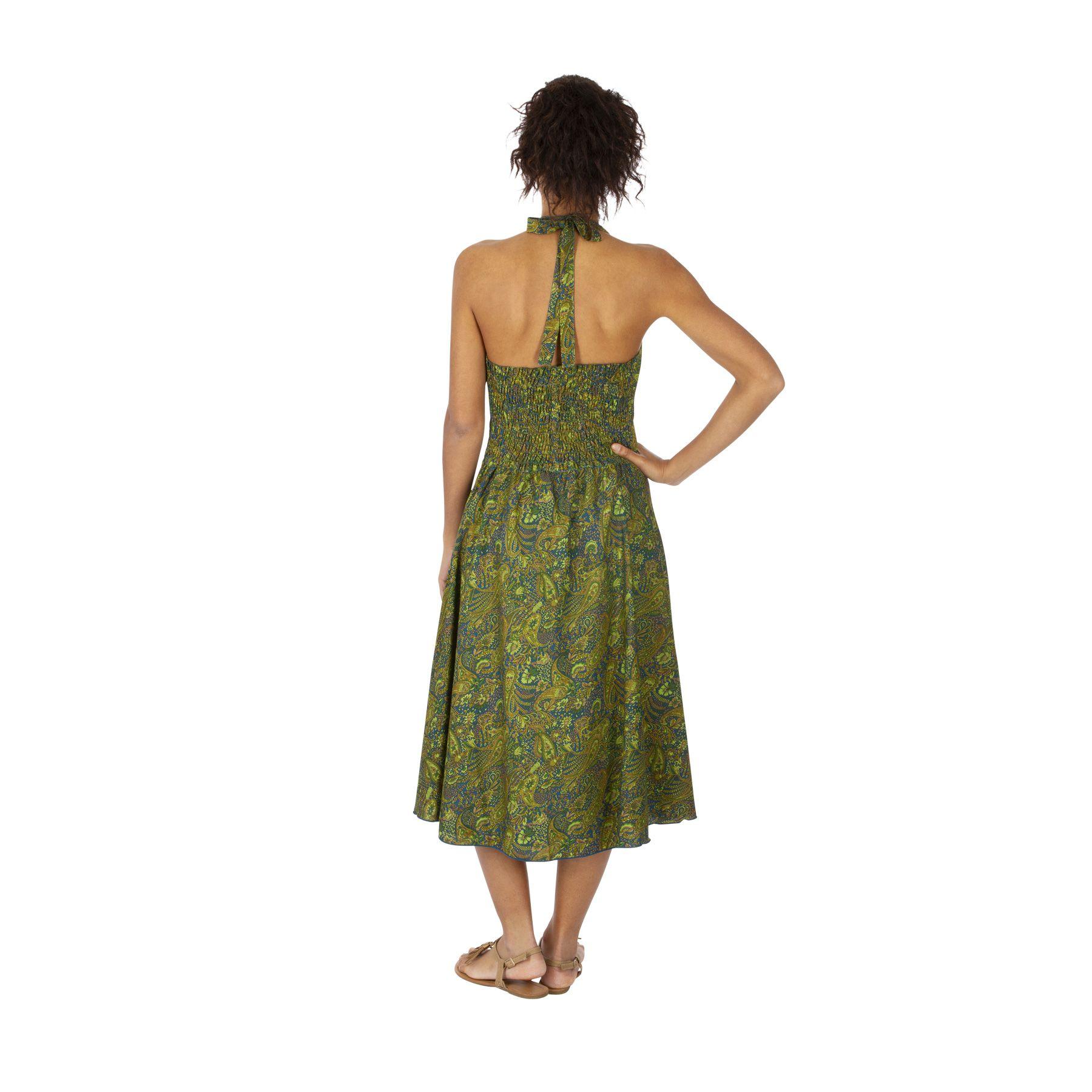Robe à dos nu femme pour mariage imprimé été Plume