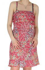 Robe à fines bretelles Corail Imprimée et Colorée Dalaja 285115
