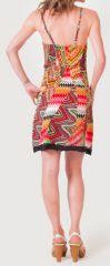 Robe à fines bretelles d'été Ethnique et Colorée Clarisa Orange 276896