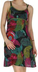 Robe à fines bretelles très colorée Alicia 297080