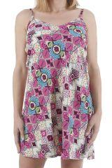 Robe à fines bretelles très féminine et ethnique Angelica 310403