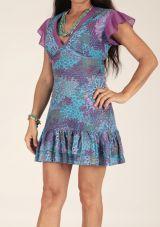Robe à fleurs femme ou tunique coton colorée Tina 315065
