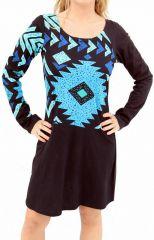 Robe à imprimé geométrique à manches longues Hera 304565