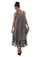 robe a larges bretelles avec imprimés ethniques et col rond Rían 289824