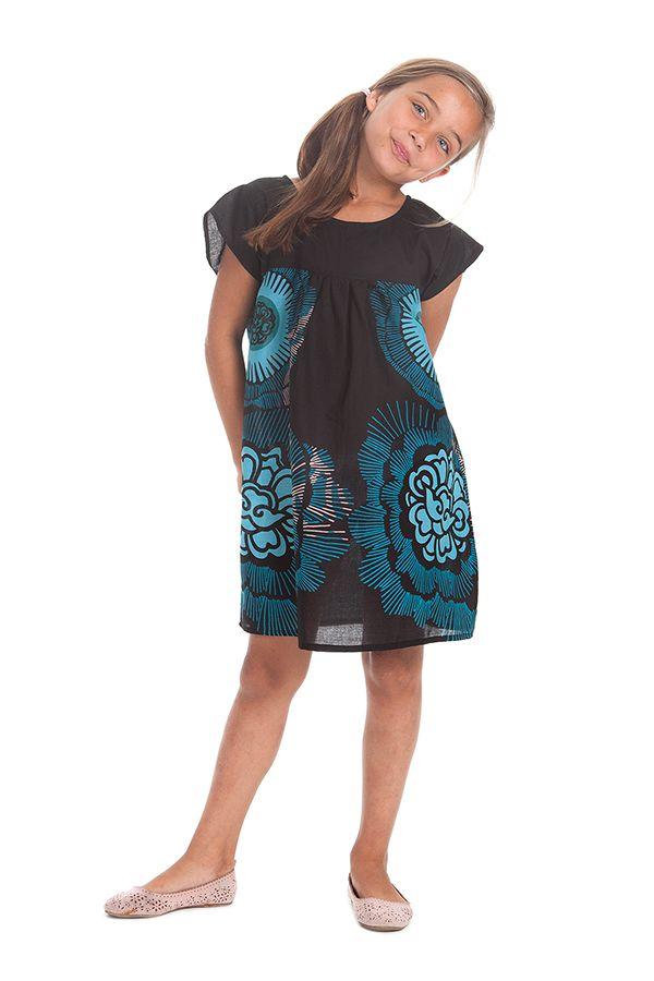 Robe à manches courtes pour Enfant Ethnique et Originale Libby Noire 279848