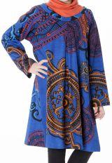 Robe à manches longues bleue pour les petites filles 287339