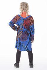 Robe à manches longues bleue pour les petites filles 287341