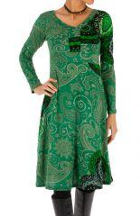 Robe à manches longues ethnique et colorée Anastasia 312655