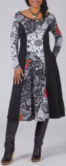 Robe à manches longues Ethnique et Imprimée Laurina 274951