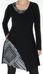 Robe à manches longues Originale et Asymétrique Passoa Noire 278724