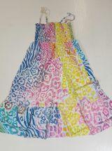 Robe à smock et fines bretelles Originale et Colorée Zamounda Pastel 303574